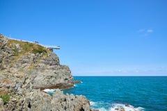 Przejrzysty skywalk widzieć Oryukdo wyspy Zdjęcia Royalty Free