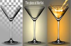 Przejrzysty szkło Martini Zdjęcie Royalty Free