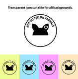 Przejrzysty testowany na zwierzę szyldowej ikonie Fotografia Stock