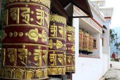 Przekład: Modlitwa zaznacza i toczy wokoło Swayambhunath St zdjęcia royalty free