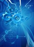 Przekładni i Cogs Błękitny Biznesowy tło ilustracja wektor