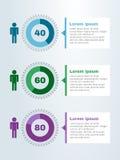 Przekładni koła ogłoszenie towarzyskie infographic Obrazy Royalty Free