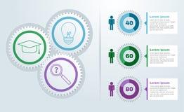 Przekładni koło infographic Zdjęcie Stock