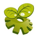 przekładni zieleni liść royalty ilustracja