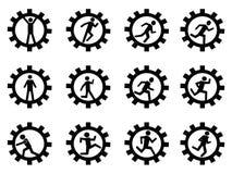 Przekładnia mężczyzna symbol ilustracji