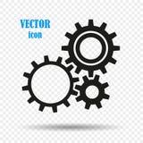 Przekładnie odizolowywać na przejrzystym tle Pojęcie mechanicy, robotyka Wektorowy element dla twój projekta ilustracja wektor