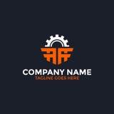 Przekładnia list logo ilustracji