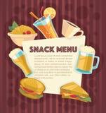 Przekąska menu ilustracji