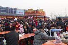 Przekąski w 2016 latarniowych festiwalach, Chengdu, porcelana Obraz Stock