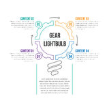 Przekładni Lightbulb Infographic Zdjęcia Stock