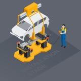 Przekaz dla samochodu ilustracji