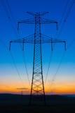 Przekaz góruje przy wschodem słońca Obraz Stock