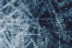 Przeklęte linie wzoru i sieci lowpoly tło Obraz Royalty Free