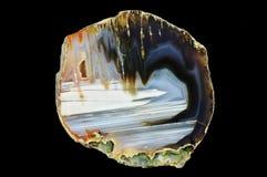 Przekrój poprzeczny agata kamień Obrazy Stock