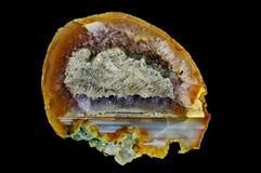 Przekrój poprzeczny agata kamień Obraz Royalty Free