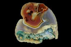 Przekrój poprzeczny agata kamień Fotografia Royalty Free