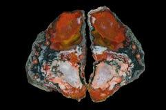 Przekrój poprzeczny agata kamień Zdjęcie Royalty Free