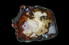 Przekrój poprzeczny agata kamień Obrazy Royalty Free