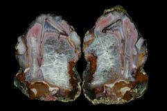 Przekrój poprzeczny agata kamień Obraz Stock