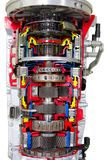 Przekrój poprzeczny automatyczny gearbox Obrazy Stock