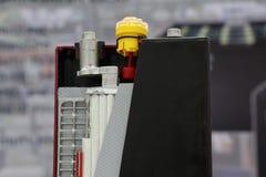 przekrój poprzeczny przemysłowa bateria Fotografia Stock