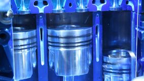 Przekrój poprzeczny spalanie silnik zdjęcie wideo