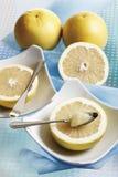 Przekrawający grapefruits zdjęcia royalty free