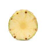 Przekroju poprzecznego ananasowy plasterek odizolowywający Obraz Royalty Free