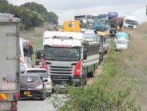 Przekrwiona autostrada w Afryka Zdjęcie Royalty Free