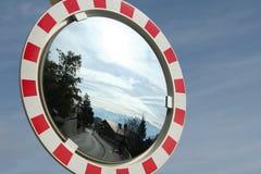 przekrwiony lustrzany ruch drogowy Obraz Stock