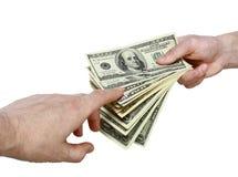 przelew pieniędzy Obraz Stock