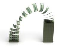 przelew pieniędzy Zdjęcia Royalty Free