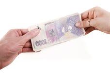 przelew pieniędzy Zdjęcie Royalty Free