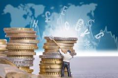 Przelew pieniędzy waluta Obraz Royalty Free