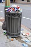Przelewać się śmieci w Ottawa na Kanada dniu Obraz Royalty Free