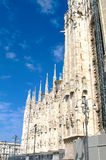 Przelotne spojrzenie duomo, Milan Fotografia Stock