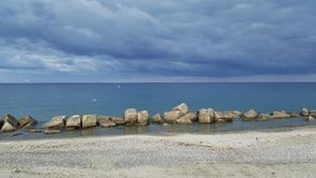 Przelotne spojrzenie zimy plaża obraz stock
