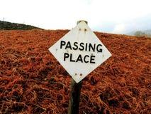 Przelotnego miejsca Drogowy znak Zdjęcia Royalty Free