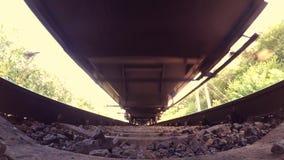 Przelotny taborowy dolnego widoku szeroki kąt zdjęcie wideo
