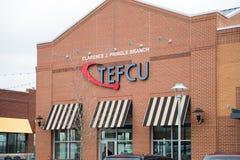 Przelotowych pracowników Credit Union Federacyjny gałęziasty biuro fotografia royalty free