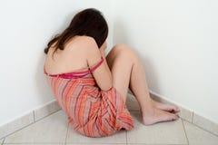 Przemoc domowa przeciw kobiecie Fotografia Royalty Free