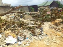 PRZEMOC trzęsienie ziemi NA środowisku W AFRYKA WSCHODNIA Zdjęcie Royalty Free
