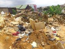 PRZEMOC trzęsienie ziemi NA środowisku W AFRYKA WSCHODNIA Zdjęcia Royalty Free