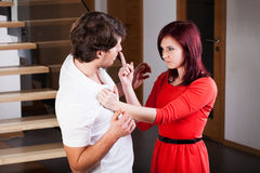 Przemoc w związku Fotografia Stock