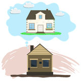 Przemodelowywać dom, Starzy sen naprawa Zdjęcie Stock