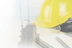 Przemysłów budowlanych narzędzia z budową Zdjęcie Royalty Free