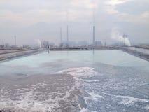 przemysłów polutions Obraz Royalty Free
