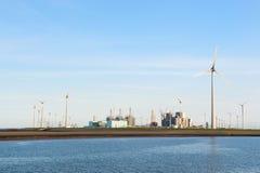 Przemysł blisko wybrzeża Obraz Royalty Free