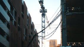 Przemysł budowa Betonowe ściany Pracujący basztowy żuraw zbiory