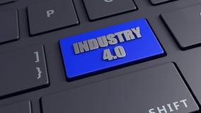 4 przemysł (0) 3d odpłaca się klawiaturowego komputer wytwarza Fotografia Stock